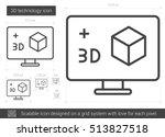 three d technology vector line... | Shutterstock .eps vector #513827518