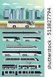 public transport orthogonal... | Shutterstock .eps vector #513827794
