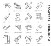 isolated construction tools and ...