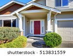 entrance porch with red front... | Shutterstock . vector #513831559