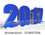 creative abstract new year 2017 ... | Shutterstock . vector #513837556