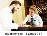 picture of young businessman... | Shutterstock . vector #513839764