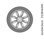 car wheel icon in black...   Shutterstock .eps vector #513846640