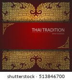 elegant ornate background  thai ... | Shutterstock .eps vector #513846700