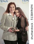 Small photo of 10-11-2016- Madrid- Spain- Delivery of the IV Tena Lady prize to women who succeed. Angela Molina,Blanca Fernandez Ochoa