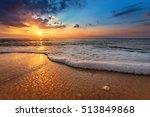 seascape during sundown.... | Shutterstock . vector #513849868