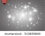 glow light effect. vector... | Shutterstock .eps vector #513850840