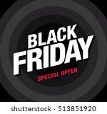 sale poster of black friday   Shutterstock .eps vector #513851920