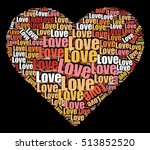 stylish heart shape with love... | Shutterstock .eps vector #513852520