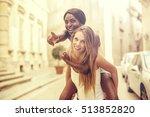 friends spending some time... | Shutterstock . vector #513852820