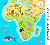 africa mainland cartoon map... | Shutterstock .eps vector #513854278