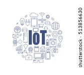 internet of things and smart... | Shutterstock .eps vector #513856630