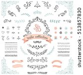 hand drawn rustic design... | Shutterstock .eps vector #513857830