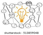 team meeting brainstorming... | Shutterstock .eps vector #513859048