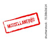 Miscellaneous red rubber stamp isolated on white background. Grunge rectangular seal with text, ink texture and splatter and blots, vector illustration.