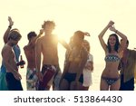 beach party freedom vacation... | Shutterstock . vector #513864430