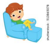 Vector Illustration Of A Kid...
