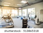 blurred image of fitness center ... | Shutterstock . vector #513865318