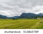 landscape with fields and... | Shutterstock . vector #513865789