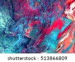 bright artistic splashes.... | Shutterstock . vector #513866809