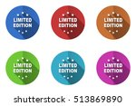 limited edition flat design... | Shutterstock .eps vector #513869890