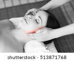 healthy beautiful woman spa.... | Shutterstock . vector #513871768