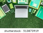 laptop  digital tablet and... | Shutterstock . vector #513873919