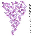 Stock photo new indian currency notes of rupees falling or flying indian rupee notes falling newly 513883330