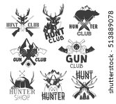 set of hunt club labels.... | Shutterstock . vector #513889078