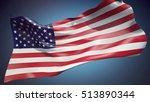 usa flag 3d illustration | Shutterstock . vector #513890344