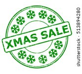 grunge green xmas sale and... | Shutterstock .eps vector #513894280