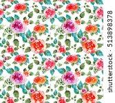 vintage floral seamless pattern ... | Shutterstock . vector #513898378