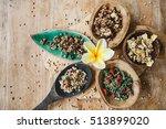 variety of green buckwheat... | Shutterstock . vector #513899020