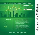 website template vector | Shutterstock .eps vector #51390466