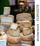 Hard Cheeses In A London Market
