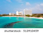 aerial from palm beach on aruba ... | Shutterstock . vector #513910459