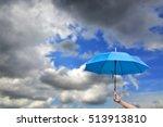 hand of man holding a blue... | Shutterstock . vector #513913810