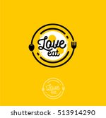 love eat logo. cafe or... | Shutterstock .eps vector #513914290