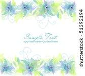 blue flower background | Shutterstock .eps vector #51392194