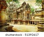 Cambodian Temple   Artwork In...