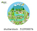 infographic green ecology city... | Shutterstock .eps vector #513930076