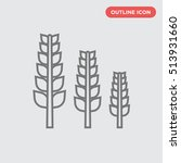 outline thin three spike vector ...