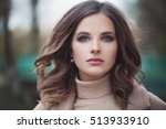 beautiful woman model with... | Shutterstock . vector #513933910