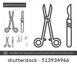 surgical instruments vector... | Shutterstock .eps vector #513934966