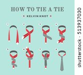 instructions on how to tie a... | Shutterstock .eps vector #513937030