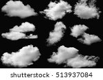 set of clouds white on isolated ... | Shutterstock . vector #513937084