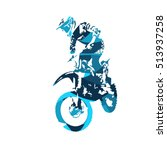 motocross jumping freestyle... | Shutterstock .eps vector #513937258