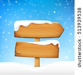 wooden sign blank board and... | Shutterstock .eps vector #513939538