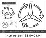 wind power vector line icon... | Shutterstock .eps vector #513940834