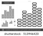 equalizer vector line icon... | Shutterstock .eps vector #513946420